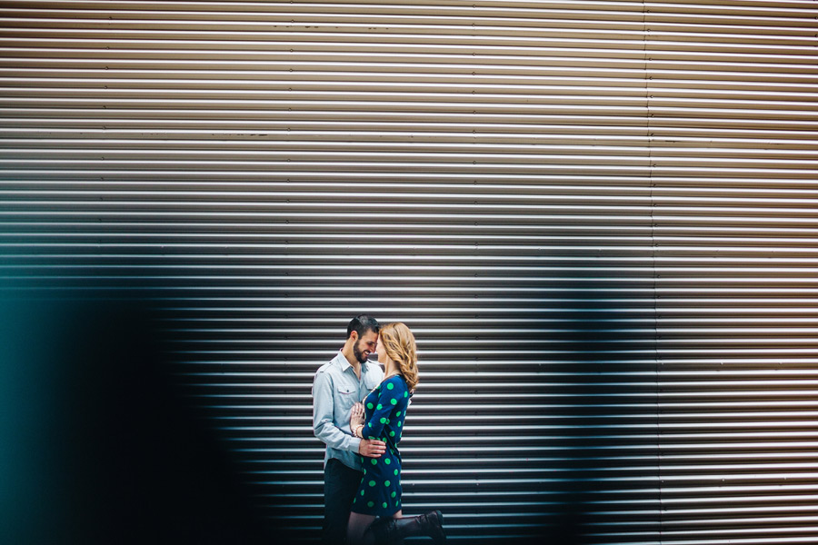 fun urban photos in uptown charlotte north carolina engagement photographer