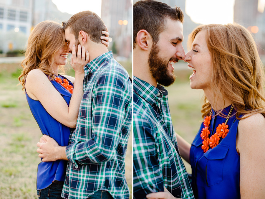 romantic couples portraits in uptown charlotte photographer