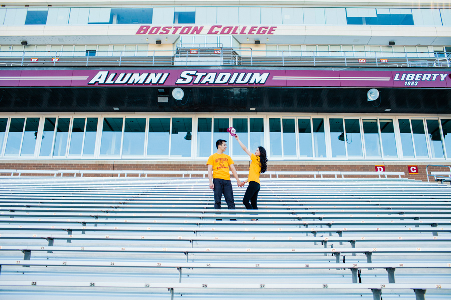 boston college engagement session photography mikhail glabets