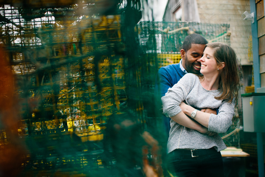 crab traps engagement photography fun couple