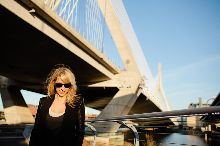 Laura cambridge ma fun creative portrait photography zakim bridge photo