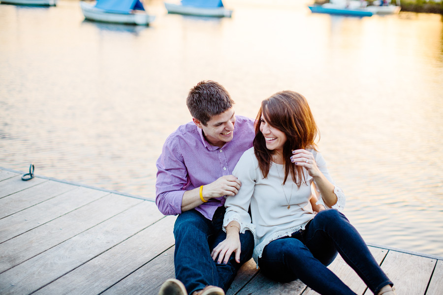 pretty couple on docks in boston engagement photography - esplanade engagement photography