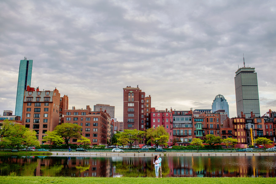 Prudential Building and John Hancock tower Boston skyline photography portrait photographer