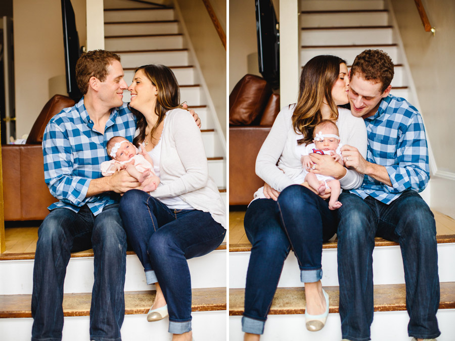 loving family sitting together Boston lifestyle newborn photographer