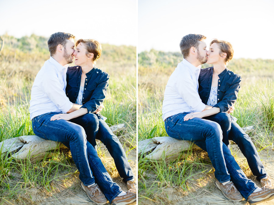 nantucket island engagement photographer couple having fun at the beach figawai