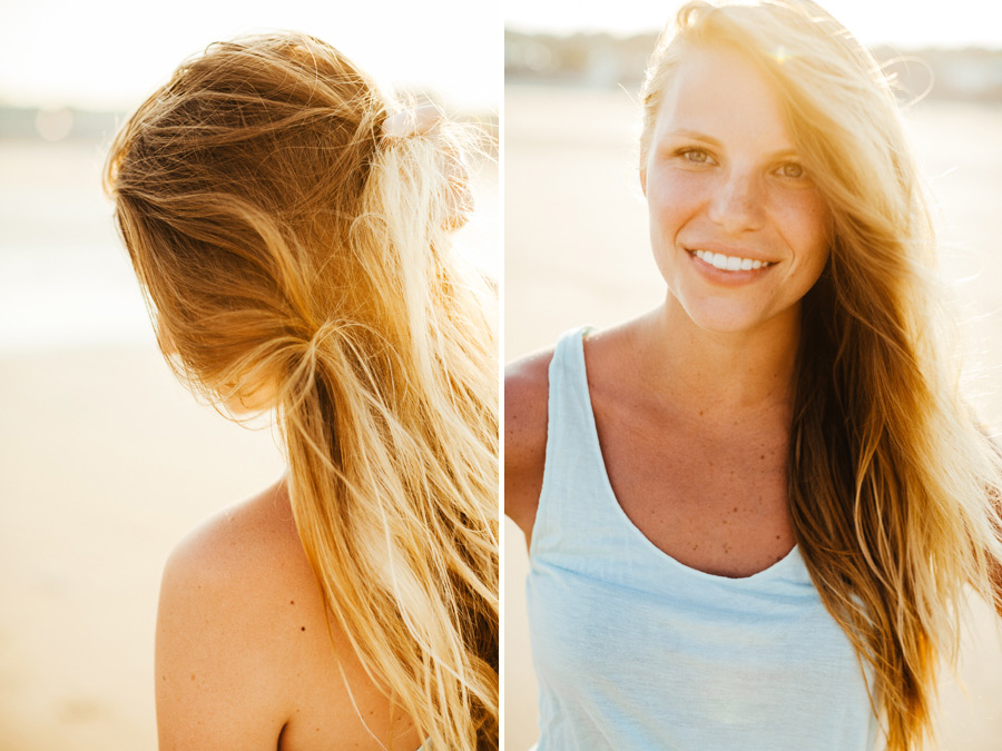 pretty girl with beach hair having fun on the beach -  nyc boston photographer