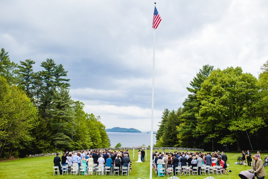 Beautiful Lake winnipesaukee wedding  at Camp Brookwoods, scenic landscape - wedding photographer