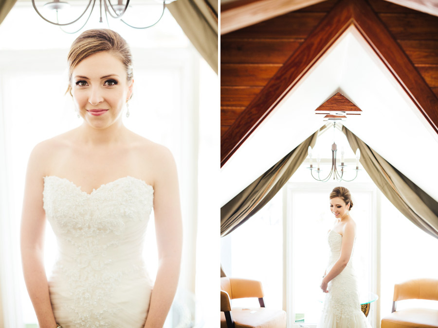 stunning bride getting ready at the lighthouse court hotel in key west florida, wedding photographer