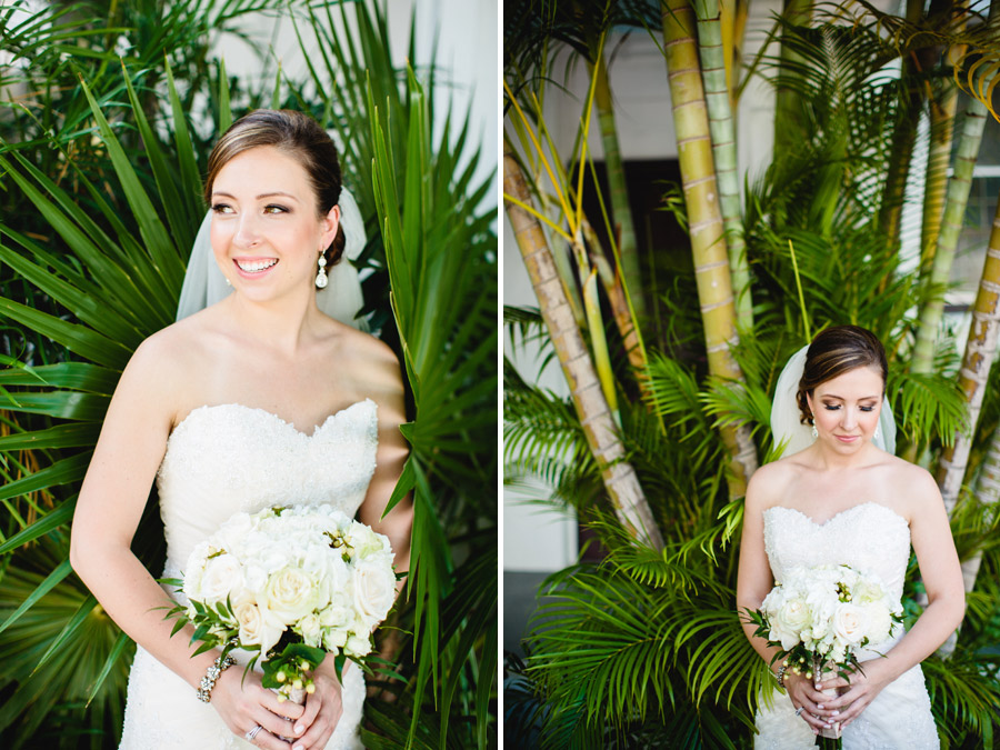beautiful couple in key west florida wedding at hemingway house destination photographer