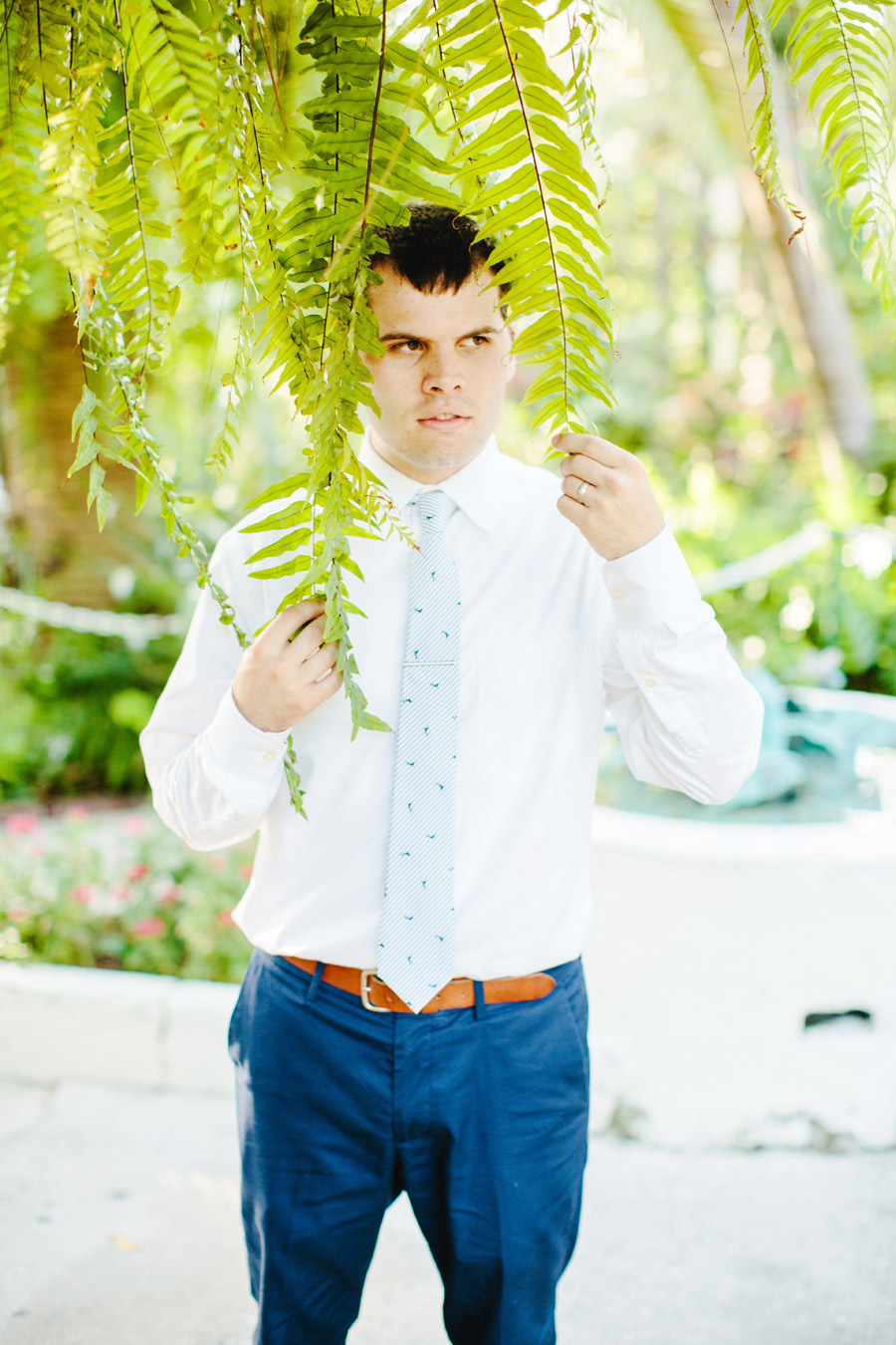 funny groom lovely and vintage inspired hemingway home key west florida destination wedding