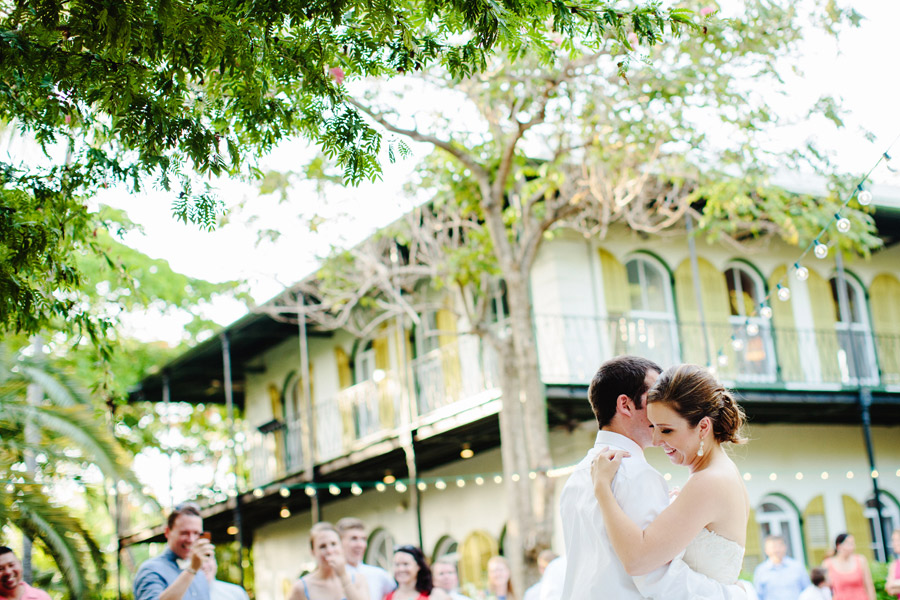 lovely and vintage inspired hemingway home key west florida destination wedding first dance