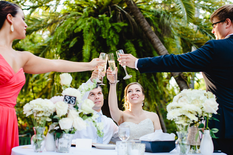 lovely and vintage inspired hemingway home key west florida destination wedding wedding toast