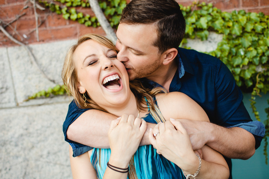 fun boston engagement session photography at christopher columbus park north end boston photographer