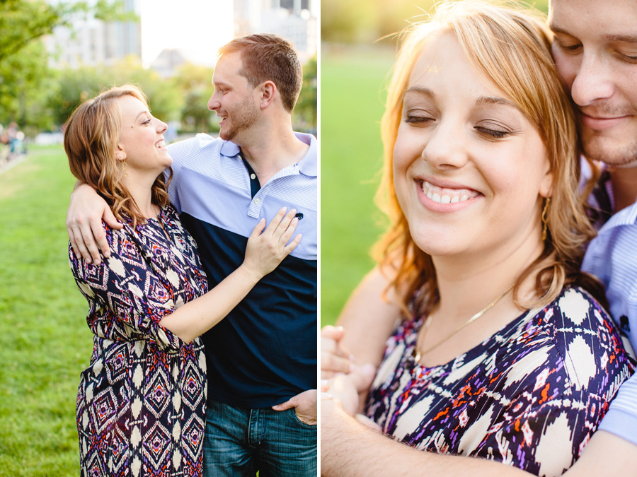 stunning boston engagement session at christopher columbus park
