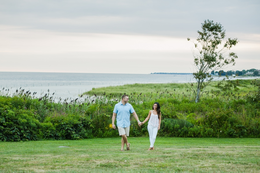 Harkness Park Engagement Photographer Waterford, CT sunset