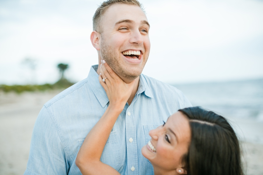Harkness Park Engagement Photographer Waterford, CT during sunset