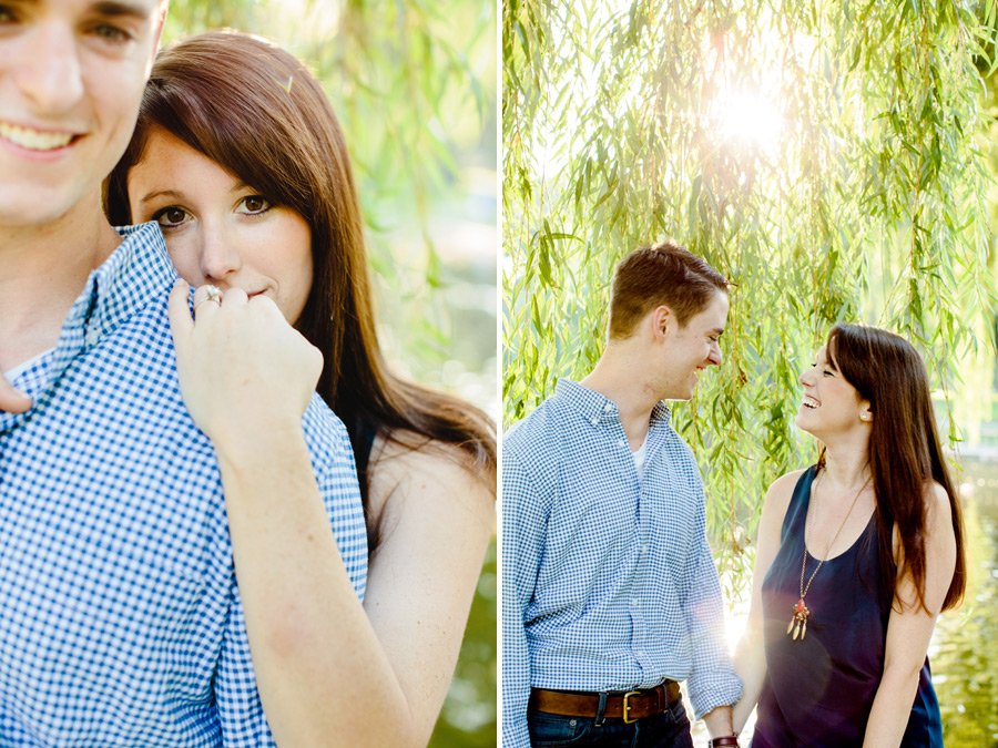 Boston public gardens engagement photographers  beautiful couple in the park