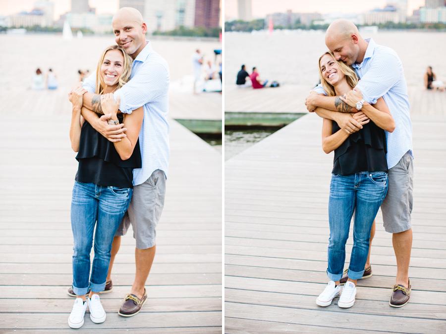 Boston engagement photographers Mikhail Glabets lifestyle couple photography on charles river esplanade