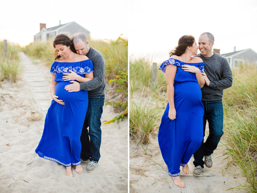 Boston & New England Beach Maternity Session