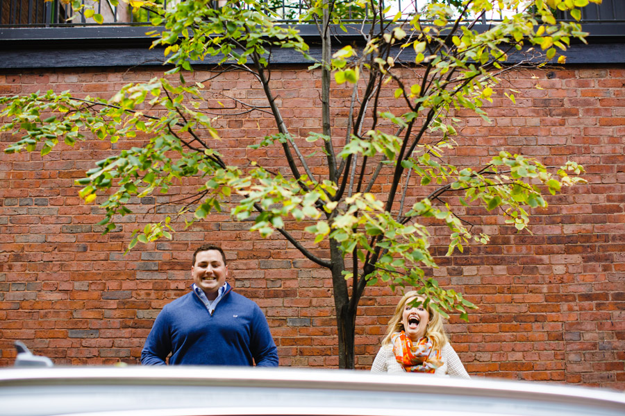 fun and creative boston engagement photos
