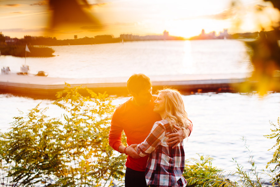 stunning couple boston engagement portraits on the charles river in boston mikhail glabets