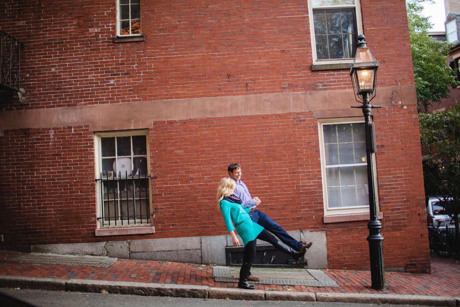 Boston top engagement photographers beacon hill couple having fun lifestyle portraits mikhail glabets (11)