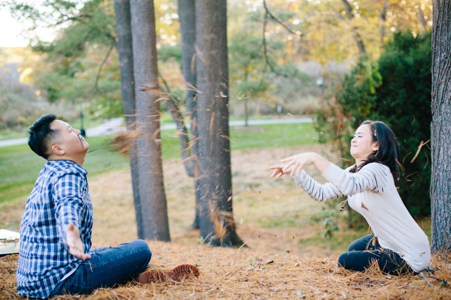 beautiful fall engagement photos at wellesley college campus mikhail glabets photography creative and unique