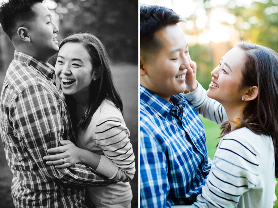 beautiful fall engagement photos at wellesley college campus mikhail glabets photography