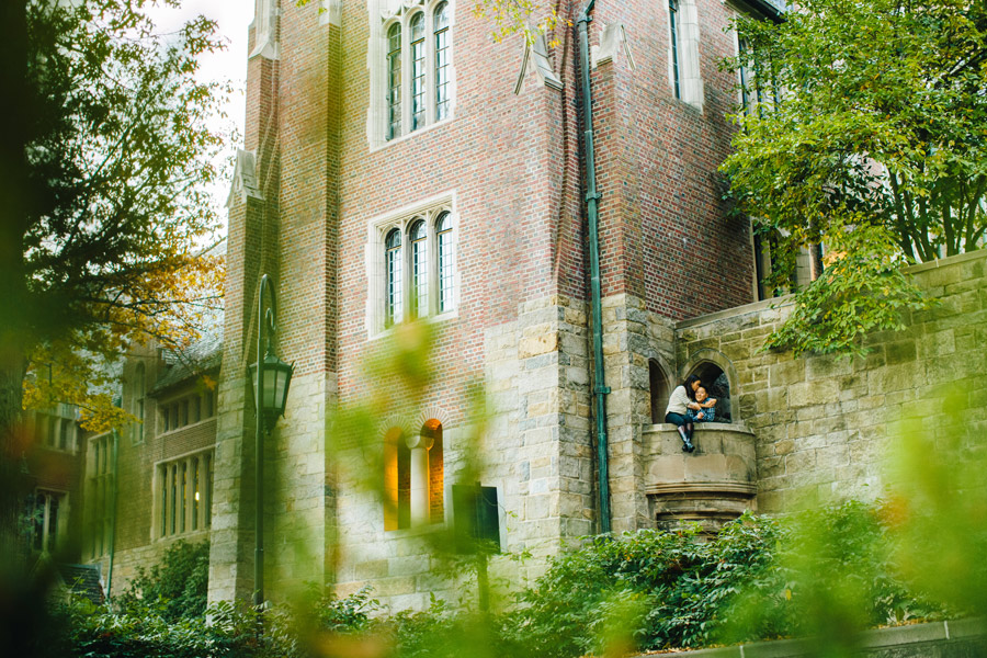 Fun couple engagement session at wellesley College campus fun lifestyle mikhail glabets
