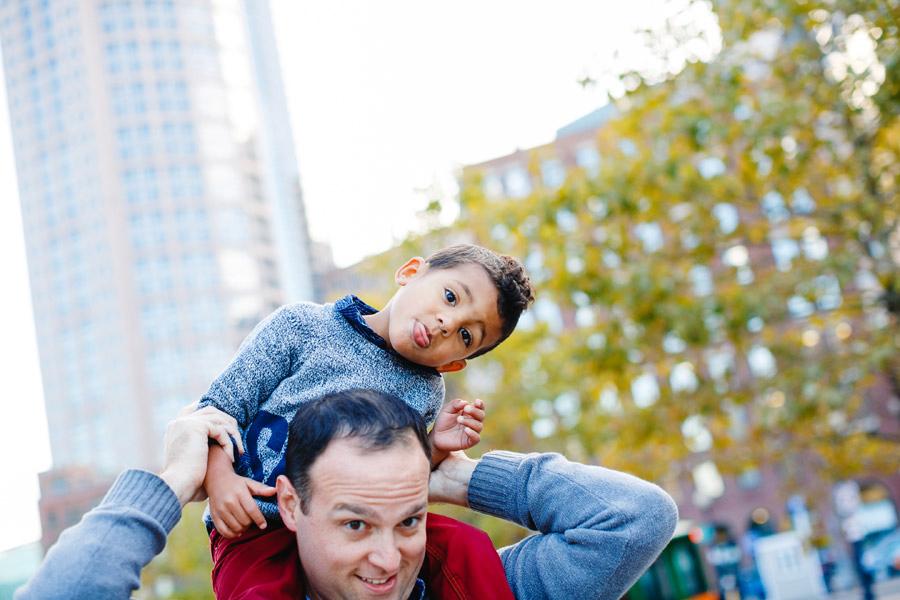 Boston Downtown family photographer fun lifestyle family photos in boston mikhail glabets