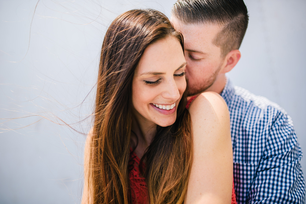 sweet moment from a boston area engagement session