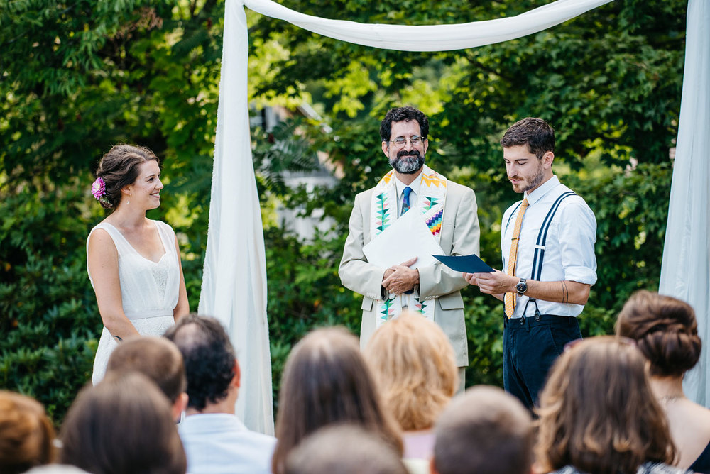 rustic new england backyard wedding inspiration the ceremony