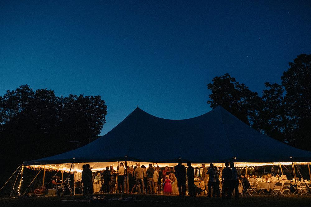 evening backyard wedding tent rustic diy wedding in boston and new england