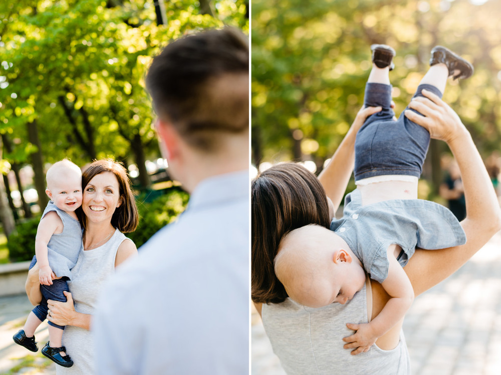 fun family moments in the boston esplanade during a fun family session