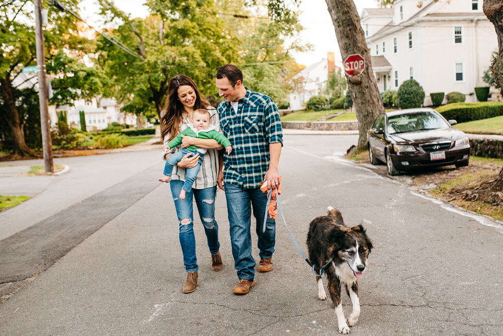 walk in the neighborhood lifestyle family photographer