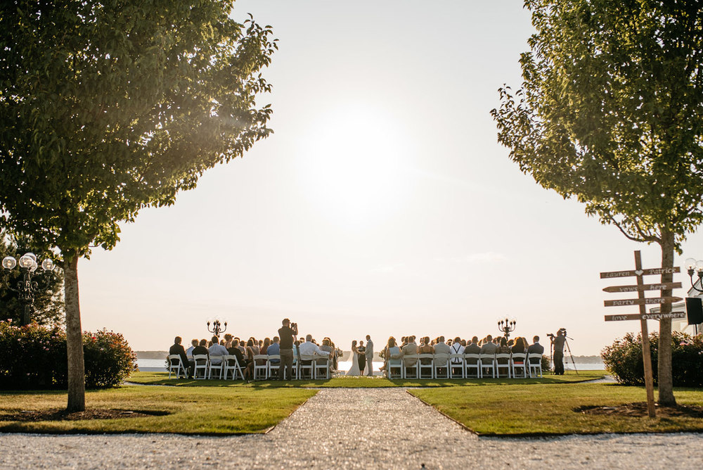 belle mer wedding venue outdoor ceremony in newport RI