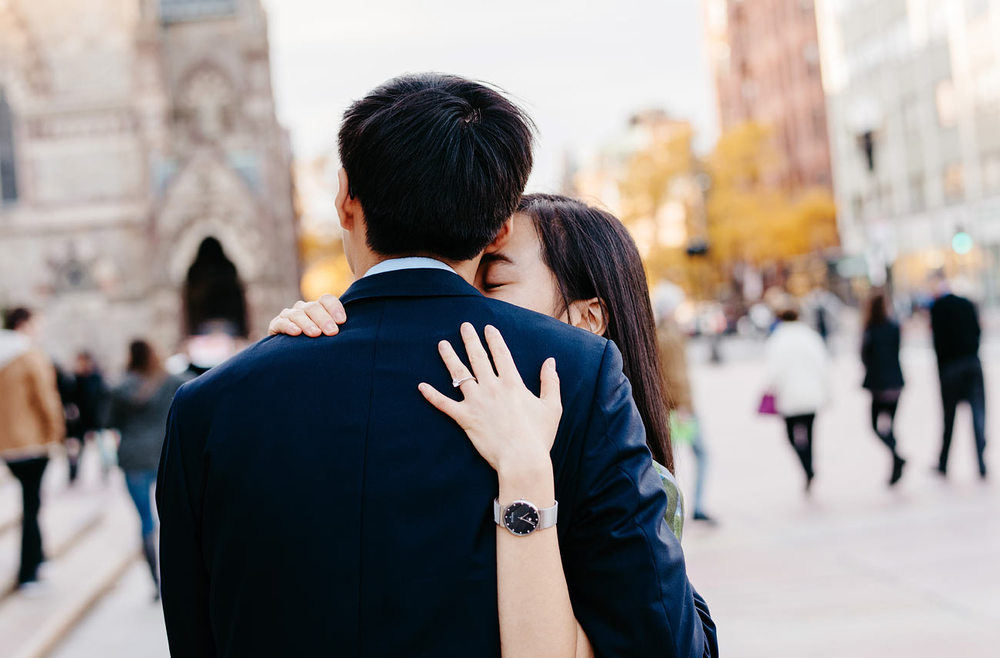 cute couple in boston boston engagement photographers