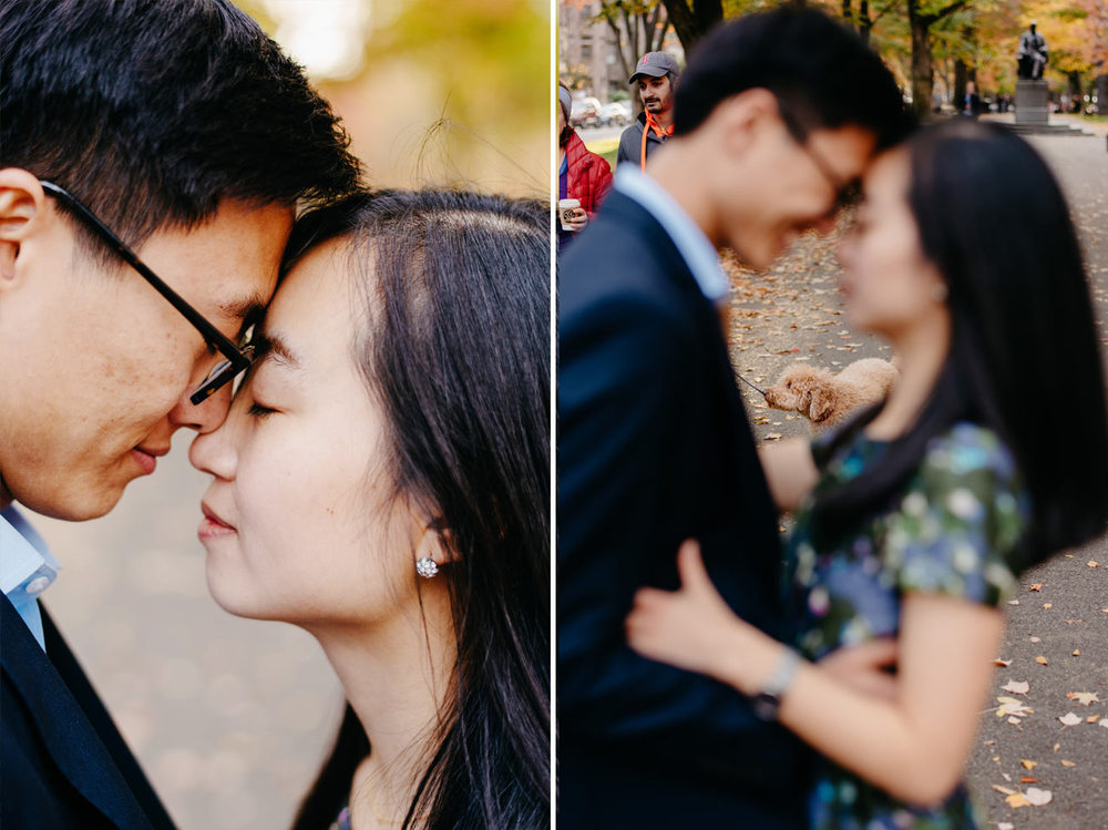 cute couple in boston engaged, photographers in boston lifestyle engagement photography