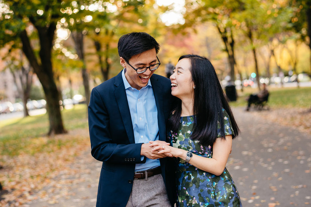commonwealth mall for engagements boston area engagements fall engagement session