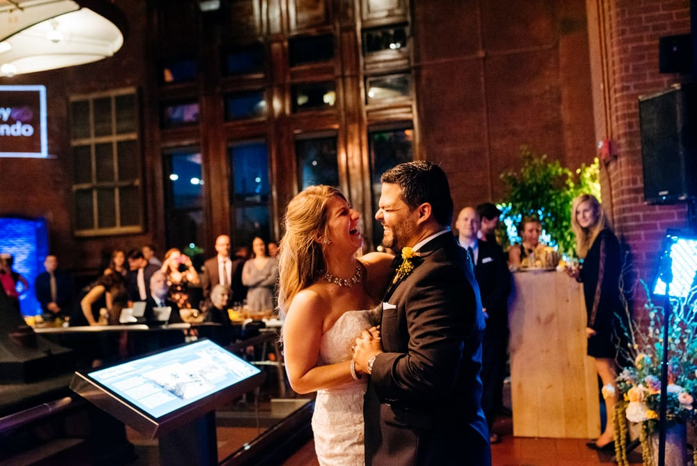 first dance at the creative and unique wedding venue Metropolitan Waterworks Museum