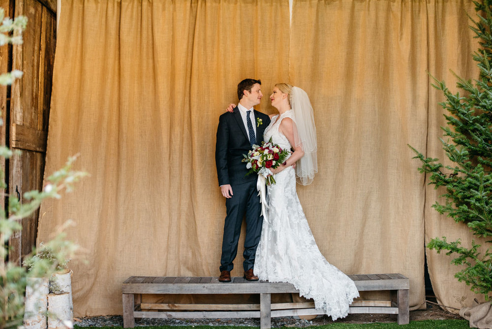 chic and rustic weddings in new england bride and groom having fun