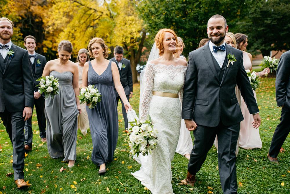 garden style backyard wedding in michigan aquinas college wedding