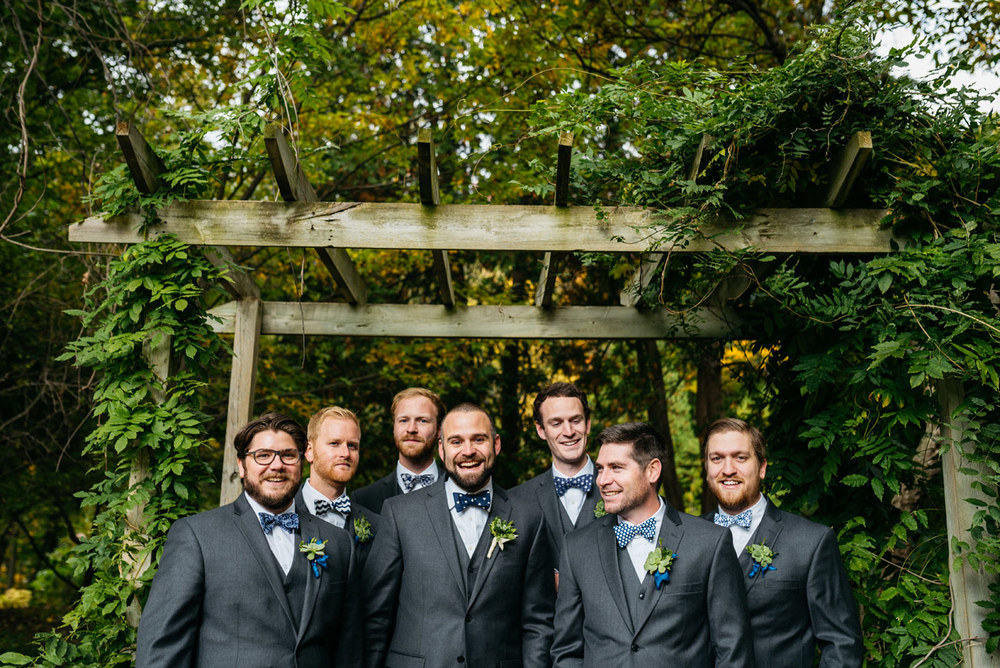 groomsmen at aquinas college in michigan