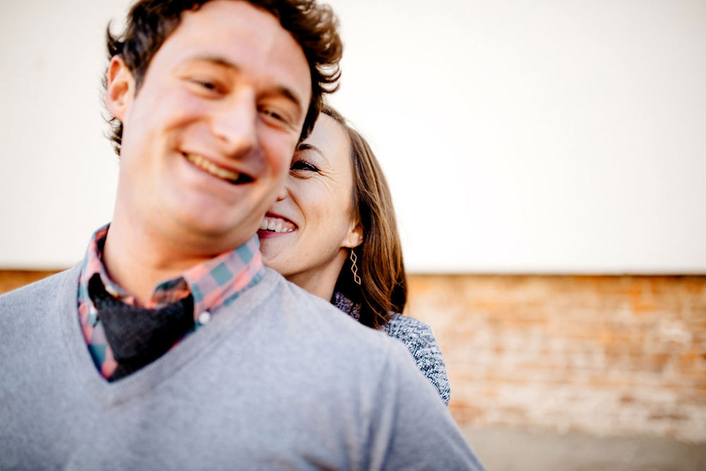 lifestyle fun engagement session in downtown providence