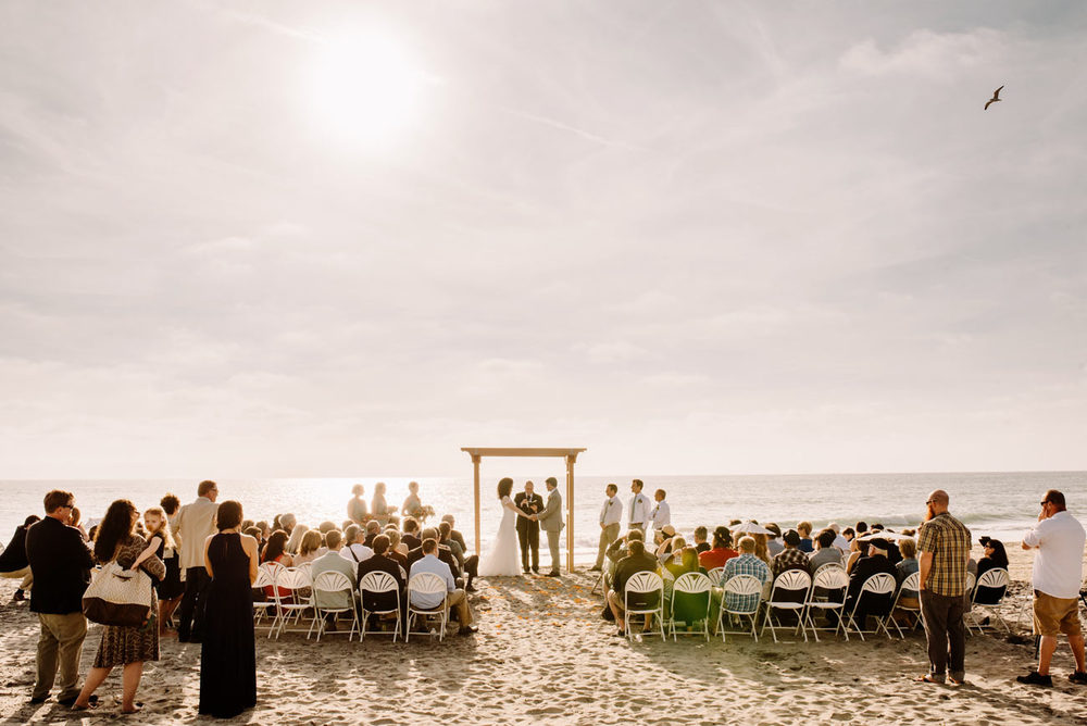 carlsbad beach wedding at levyland estates in carlsbad, CA weddings on beach