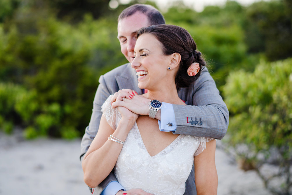 candid portraits on the beach at wychmere beach club in cape cod, beach wedding inspiration