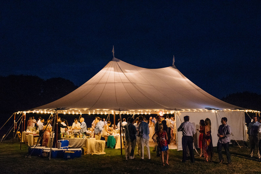 tent photo at night at bourne farm wedding tent inspiration in new england