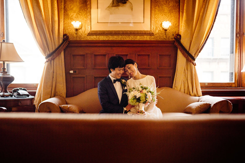 beautiful elopement in cambridge city hall