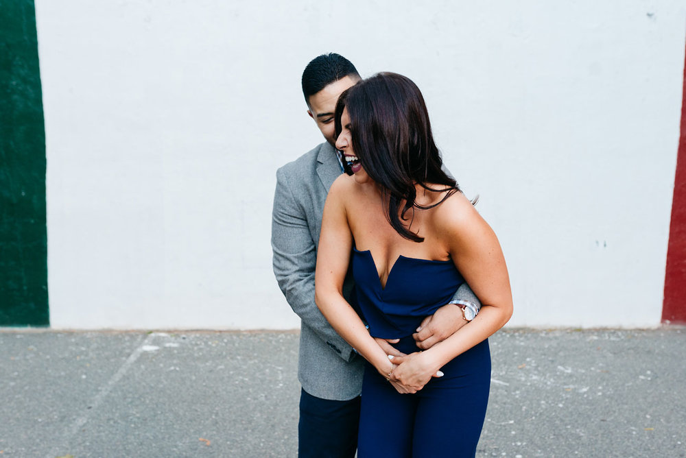 cute engagement session in little italy north end neighborhood