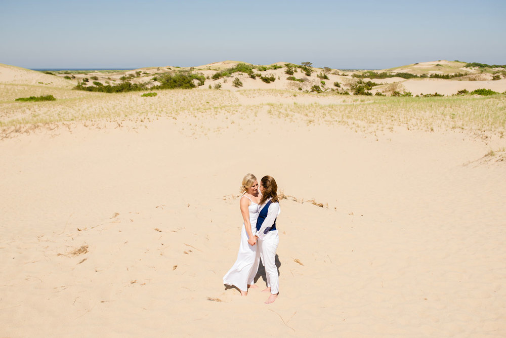 provincetown dunes planning your same sex wedding